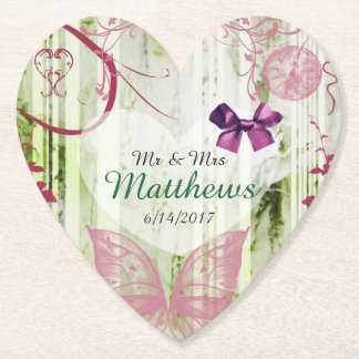 Porta-copo De Papel Portas copos Wedding personalizadas borboleta do