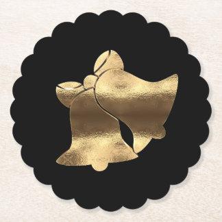 Porta-copo De Papel Preto de Bels de Natal e elegante festivo do ouro