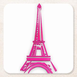 Porta-copo De Papel Quadrado 3d torre Eiffel, clipart de France