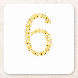 Porta-copo De Papel Quadrado 6o Aniversário Emoji 2011 engraçado para meninas