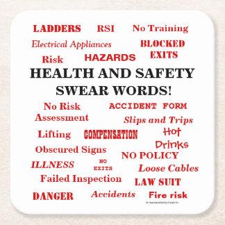 Porta-copo De Papel Quadrado A saúde & a segurança irritante engraçadas da