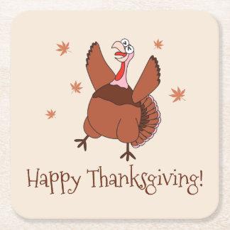 Porta-copo De Papel Quadrado Acção de graças feliz Turquia engraçada