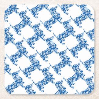 Porta-copo De Papel Quadrado Aloha-Doxie-Azul