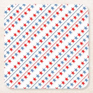 Porta-copo De Papel Quadrado americano-bandeira-estrela-fundo