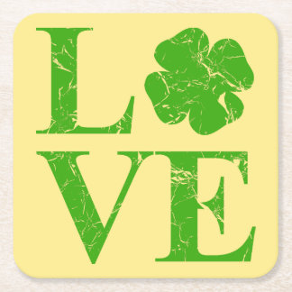 Porta-copo De Papel Quadrado Amor irlandês