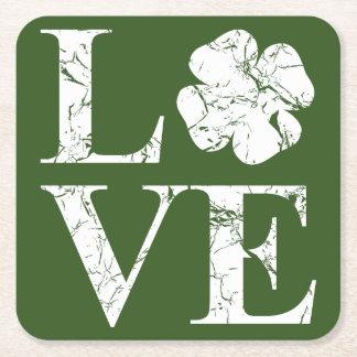 Porta-copo De Papel Quadrado Amor irlandês II
