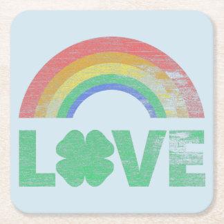 Porta-copo De Papel Quadrado Amor irlandês III