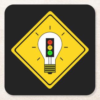 Porta-copo De Papel Quadrado Ampola temperamental do sinal de trânsito adiante