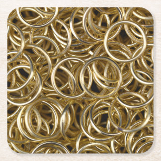Porta-copo De Papel Quadrado Anéis de ouro