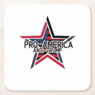 Porta-copo De Papel Quadrado Anti-Trunfo de Pro-América