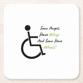 Porta-copo De Papel Quadrado Apoio do amor da cadeira de rodas do presente da