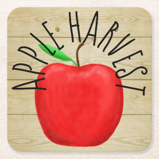 Porta-copo De Papel Quadrado Apple vermelho colhe a porta copos de madeira do