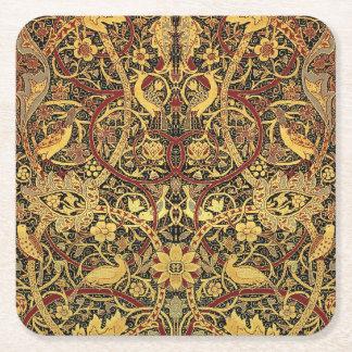 Porta-copo De Papel Quadrado Arte floral da tapeçaria de William Morris