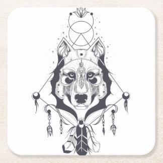 Porta-copo De Papel Quadrado arte legal do design do cão