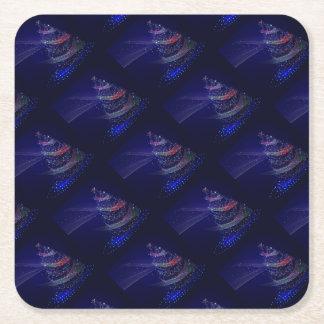 Porta-copo De Papel Quadrado Árvore azul bonita