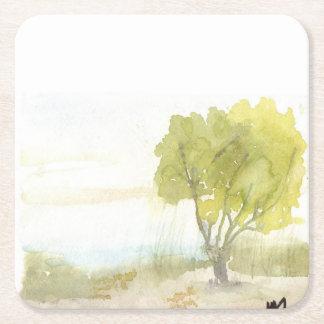 Porta-copo De Papel Quadrado Árvore da beira do lago