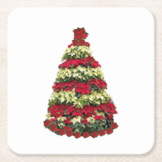 Porta-copo De Papel Quadrado Árvore de Natal