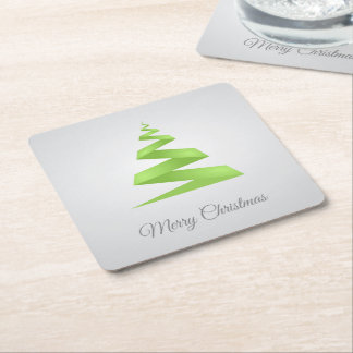 Porta-copo De Papel Quadrado Árvore de Natal simples da fita do Natal