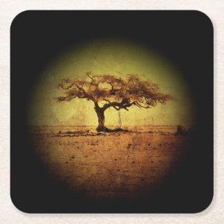 Porta-copo De Papel Quadrado Árvore rústica