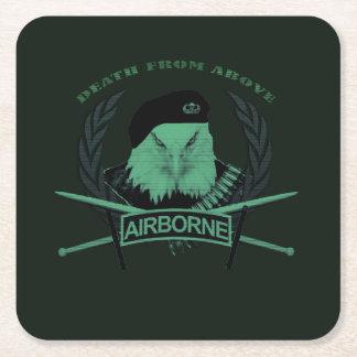 Porta-copo De Papel Quadrado As forças armadas transportadas por via aérea do