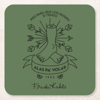 Porta-copo De Papel Quadrado Asas de Frida Kahlo | a voar