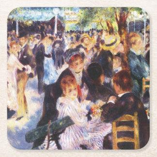 Porta-copo De Papel Quadrado Auguste Renoir - dance no la Galette de Le moulin