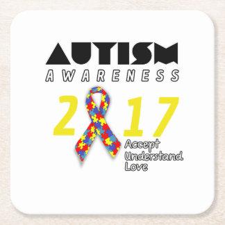 Porta-copo De Papel Quadrado Autismo 2017 da consciência do autismo