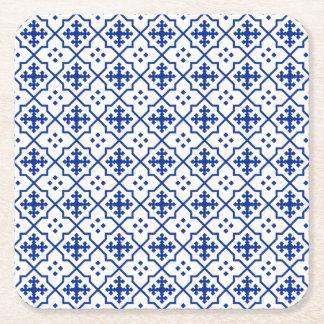 Porta-copo De Papel Quadrado Azul marroquino