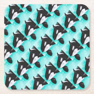 Porta-copo De Papel Quadrado Baleia bonito da orca