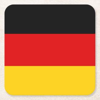 Porta-copo De Papel Quadrado Bandeira alemão patriótica