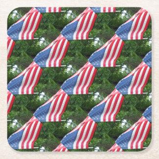 Porta-copo De Papel Quadrado Bandeira americana