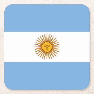 Porta-copo De Papel Quadrado Bandeira argentina patriótica