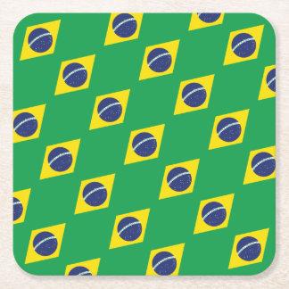 Porta-copo De Papel Quadrado Bandeira brasileira