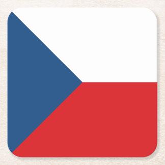 Porta-copo De Papel Quadrado Bandeira da república checa