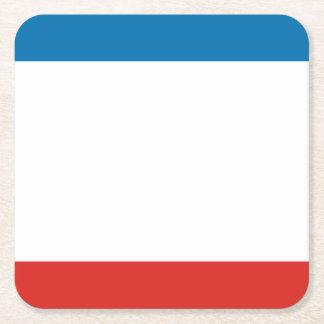 Porta-copo De Papel Quadrado Bandeira de Crimeia