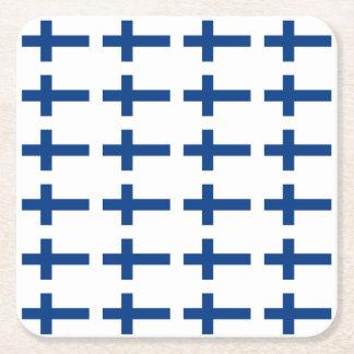 Porta-copo De Papel Quadrado Bandeira de Finlandia