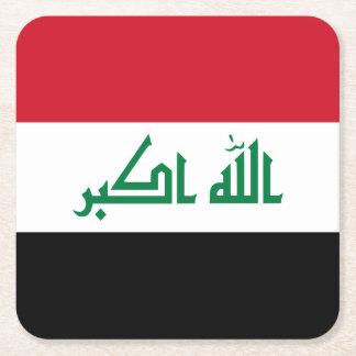 Porta-copo De Papel Quadrado Bandeira de Iraque