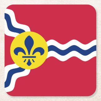 Porta-copo De Papel Quadrado Bandeira de St Louis, Missouri