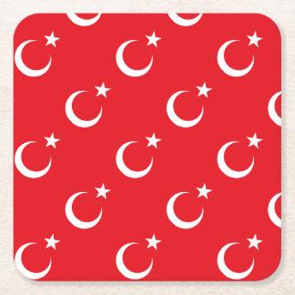 Porta-copo De Papel Quadrado Bandeira de Turquia