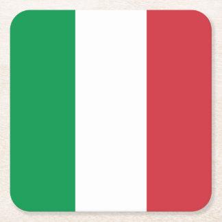 Porta-copo De Papel Quadrado Bandeira italiana patriótica