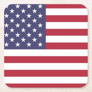 """Porta-copo De Papel Quadrado """"Bandeira nacional dos Estados Unidos da América"""