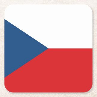 Porta-copo De Papel Quadrado Bandeira patriótica da república checa