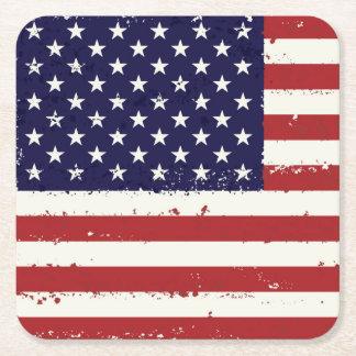 Porta-copo De Papel Quadrado Bandeira patriótica portas copos da bandeira dos