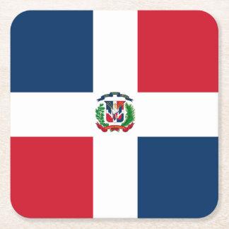 Porta-copo De Papel Quadrado Bandeira: República Dominicana