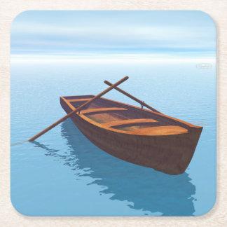 Porta-copo De Papel Quadrado Barco de madeira - 3D rendem
