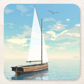 Porta-copo De Papel Quadrado Barco de navigação - 3D rendem