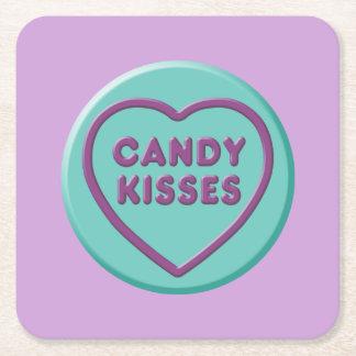 Porta-copo De Papel Quadrado Beijos de doces