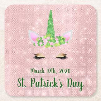 Porta-copo De Papel Quadrado Bonito cora o partido do dia de St Patrick