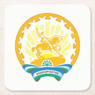 Porta-copo De Papel Quadrado Brasão de Bashkortostan