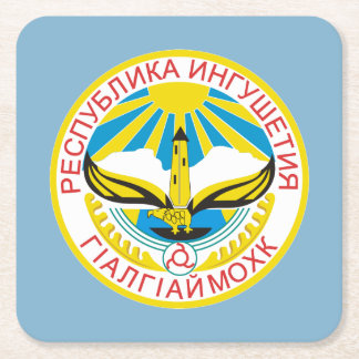 Porta-copo De Papel Quadrado Brasão de Ingushetia